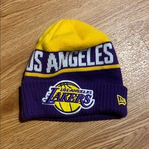 Lakers beanie youth child